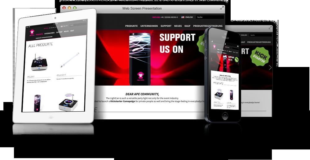 Ape Labs Website - Desktop, Mobile, Tablet