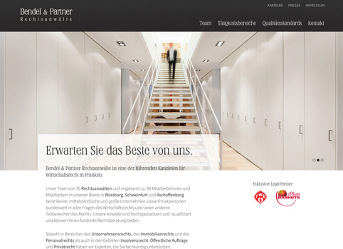 Bendel und Partner responsive Wordpress Website
