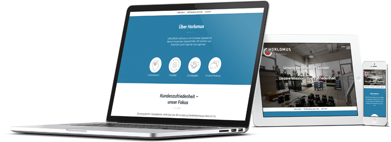 Horlomus Desktop, Tablet und Mobile