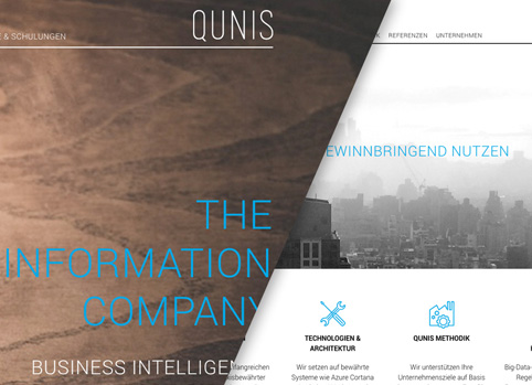 Qunis responsive Wordpress website