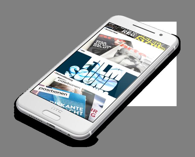 twotype website - mobile ansicht auf dem Smatphone